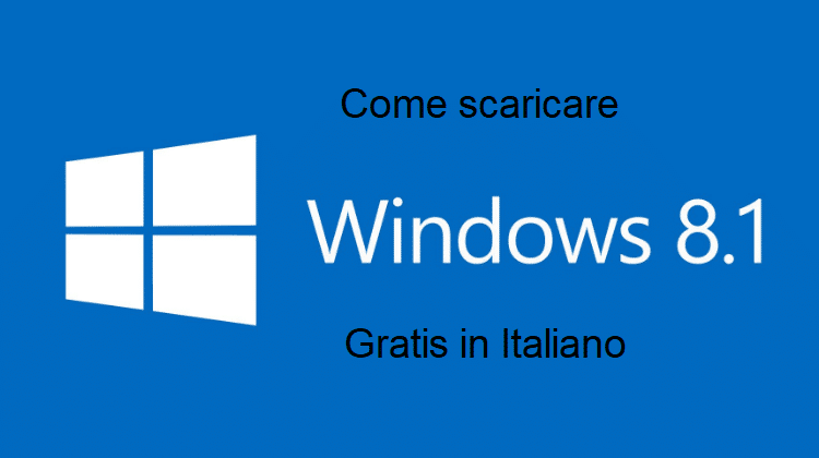 windows 8.1 gratis in italiano